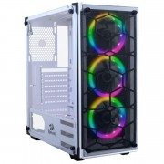 Gabinete Gamer Redragon Wheel Jack Mid Tower Vidro White S/ Fonte S/ Fan GC-606W