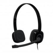 Headset Logitech H151 Stereo Analógico P3 Preto 981-000587