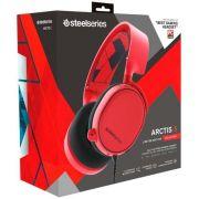 Headset Steelseries Arctis 3 Vermelho 7.1 Pc Xbox Ps Switch