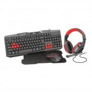 Kit Gamer Trust Ziva 4x1 Teclado Mouse Headset MousePad T22428