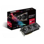 Placa de vídeo Strix Radeon Asus RX 580 8Gb OC GDDR5 ROG-STRIX-RX580-O8G-GAMING