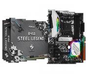 Placa Mãe ASRock B450 Steel Legend Chipset B450 AMD AM4 ATX DDR4