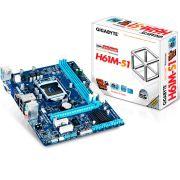 Placa mãe Gigabyte GA-H61M-S1 H61M S1 LGA 1155 INTEL H61 DDR3
