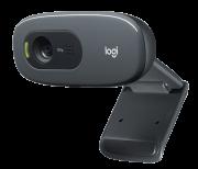 Webcam Logitech C270 HD 720P C/ Microfone Preta