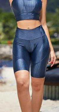 Bermuda  Fitness   Azul Petroleo