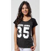 Blusa Black Listra 35