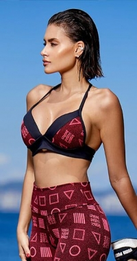 Top Jacquard Red