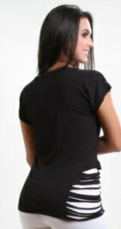 Blusa fitness hardcore com lateral recortada