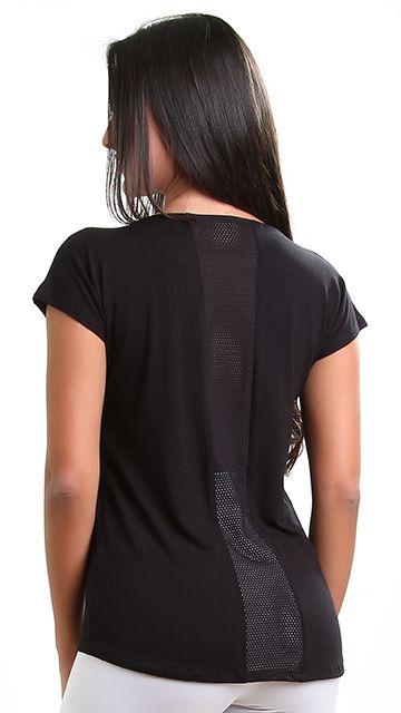 Blusa fitness Iam com tela nas costas
