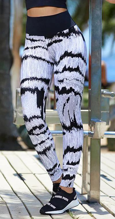 Calça Legging Jacquard Eletric