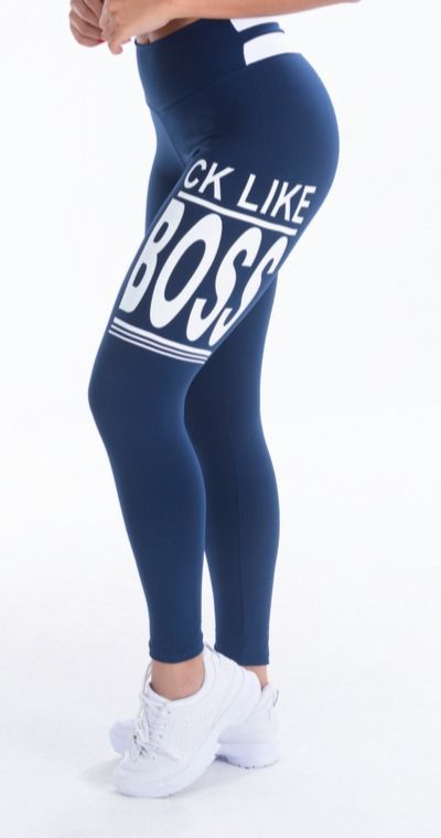 Calça Legging Poliamida Blue Boss