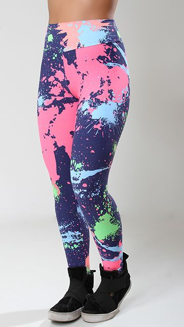 Calça Legging poliamida Estampado Splash
