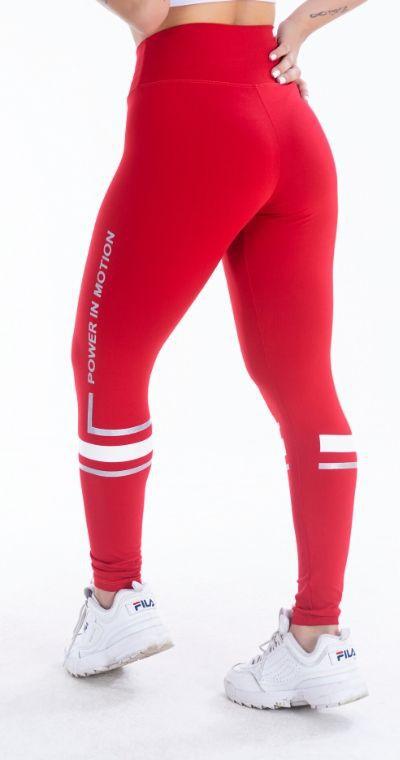 Calça Legging Poliamida Power in motion Red