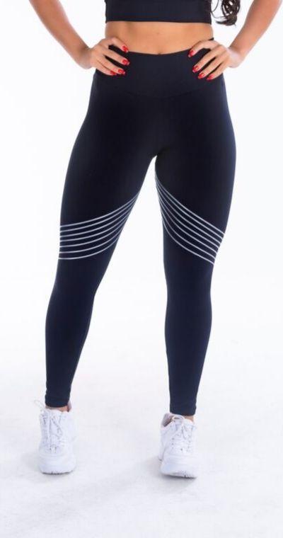 Calça Legging poliamida WAVE PRETO