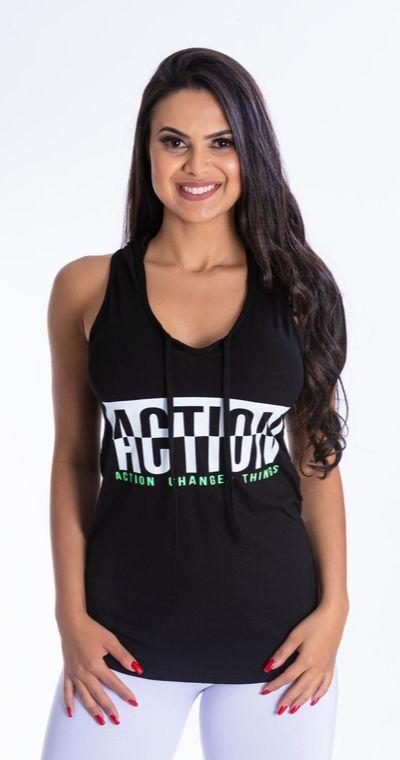 Camiseta Fitness Capuz Action