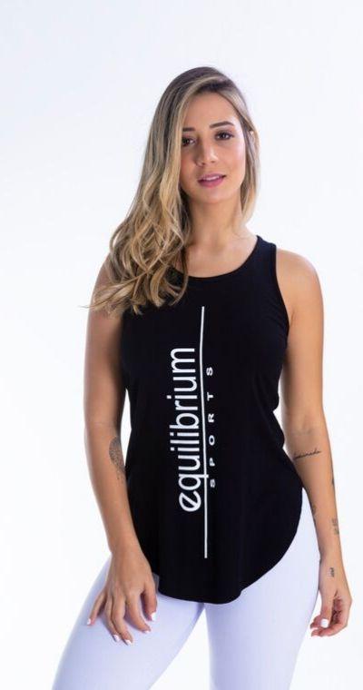 Camiseta Fitness Equilibrio Preta
