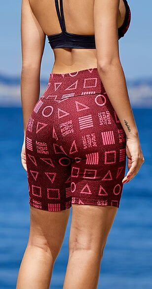 Short Fitness Jacquard Red