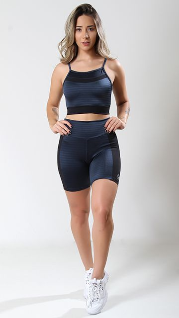 Top Fitness ikat azul petroleo