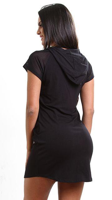 Vestido Capuz Black