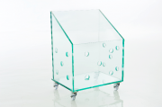 Cesto de Roupas em Vidro Incolor 10mm Lapidado - Aquabox