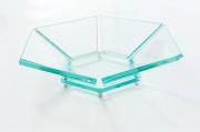 Fruteira Bella em Vidro Incolor 10mm Lapidada - Aquabox