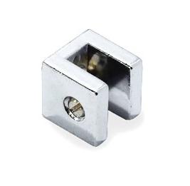 Botão fenda 6mm quadrado metálico cromado