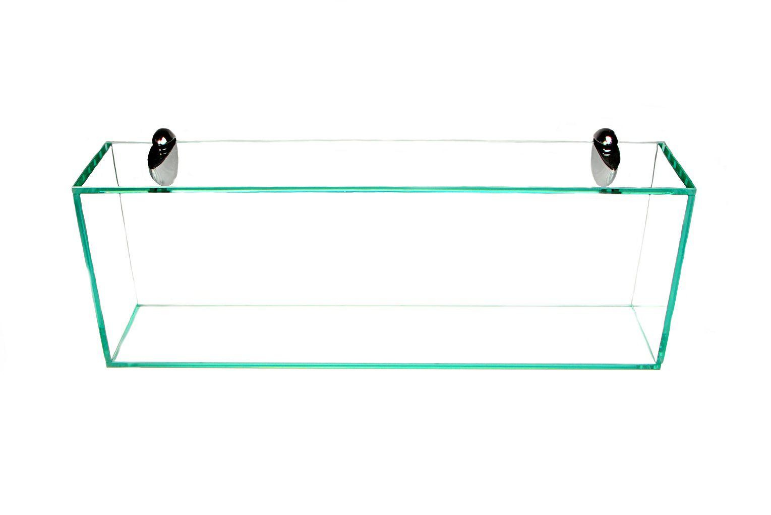 Nicho em Vidro Incolor 8mm com Suportes Tucanos - Aquabox  - 60cmx20cmx12cm