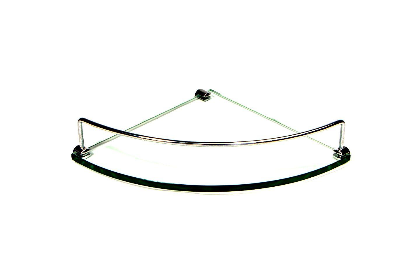 Porta Shampoo Aramado Canto Curvo em Vidro Incolor Lapidado - Aquabox - 25cmx25cmx10mm