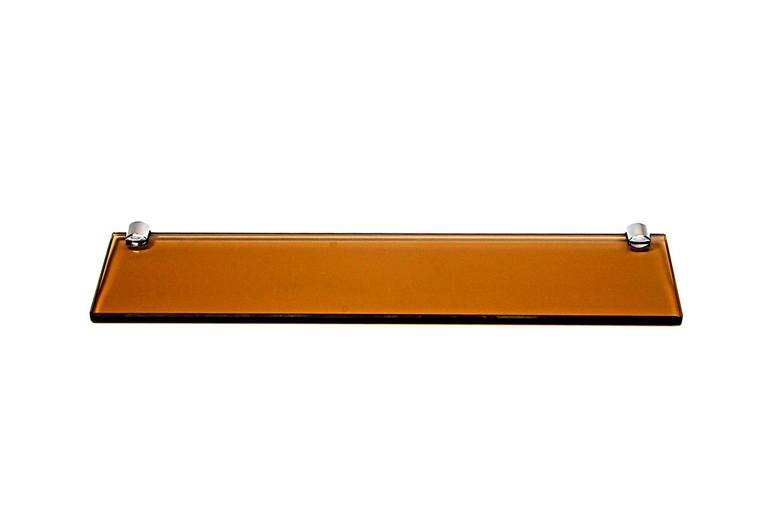 Porta Shampoo Reto em Vidro Bronze Lapidado - Aquabox  - 40cmx9cmx8mm