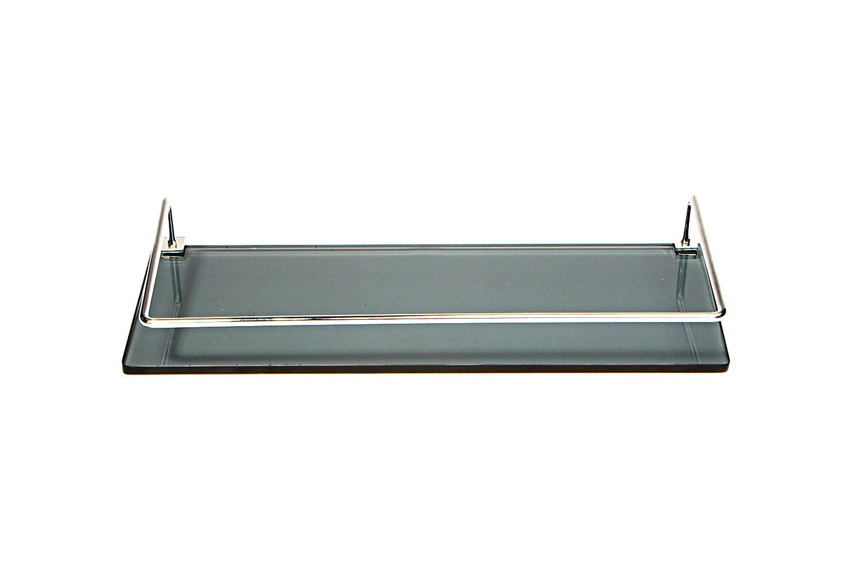 Porta Shampoo Reto em Vidro Fumê Lapidado - Aquabox  - 40cmx14cmx8mm