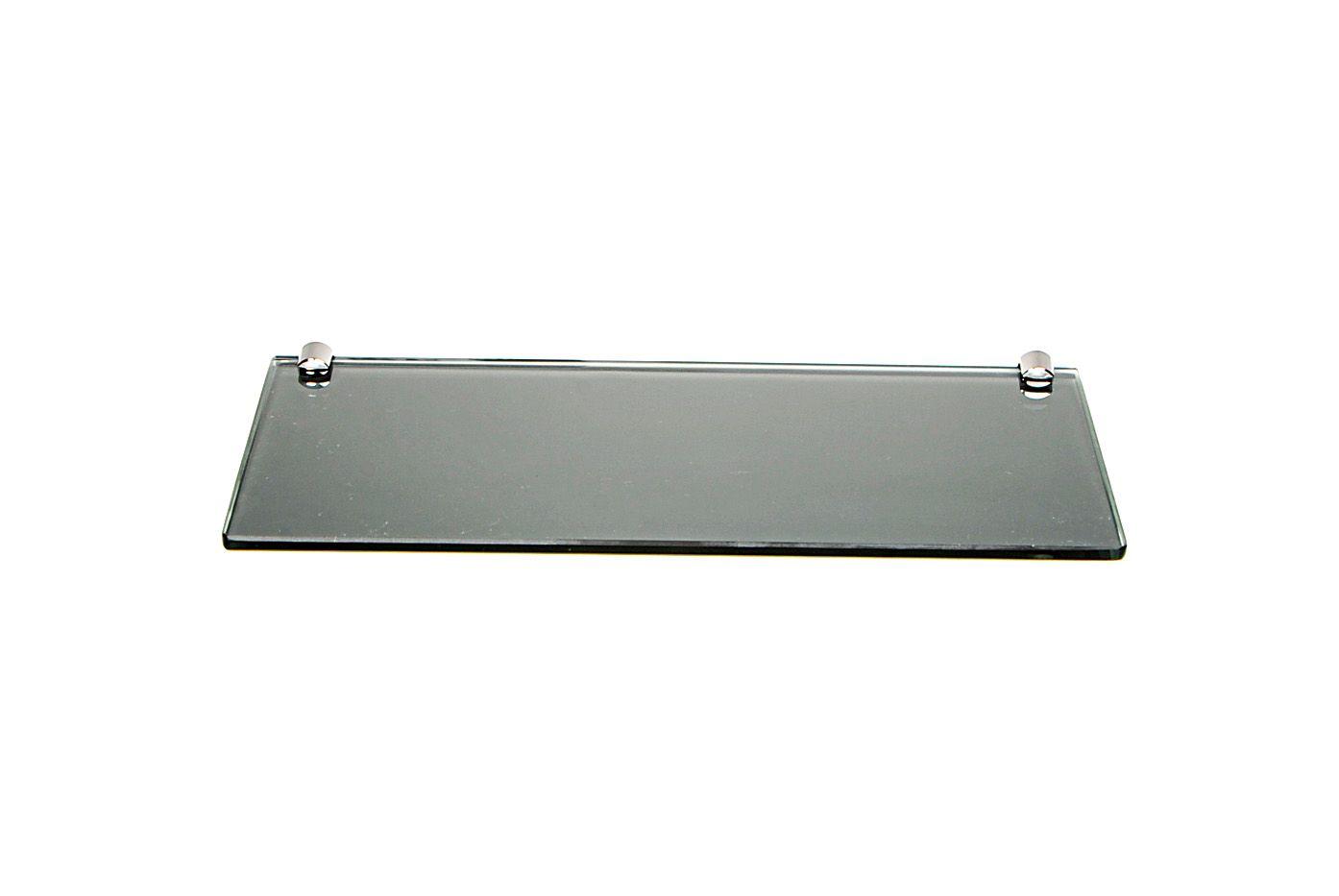 Porta Shampoo Reto em Vidro Refletivo Lapidado- Aquabox  - 40cmx14cmx8mm