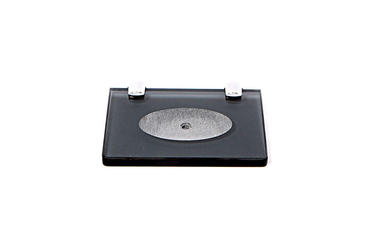 Saboneteira em Vidro Fumê Lapidado - Aquabox  - 14cmx9cmx8mm.