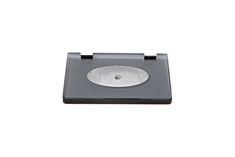 Saboneteira em Vidro Fumê Lapidado - Aquabox  - 14cmx9cmx10mm.