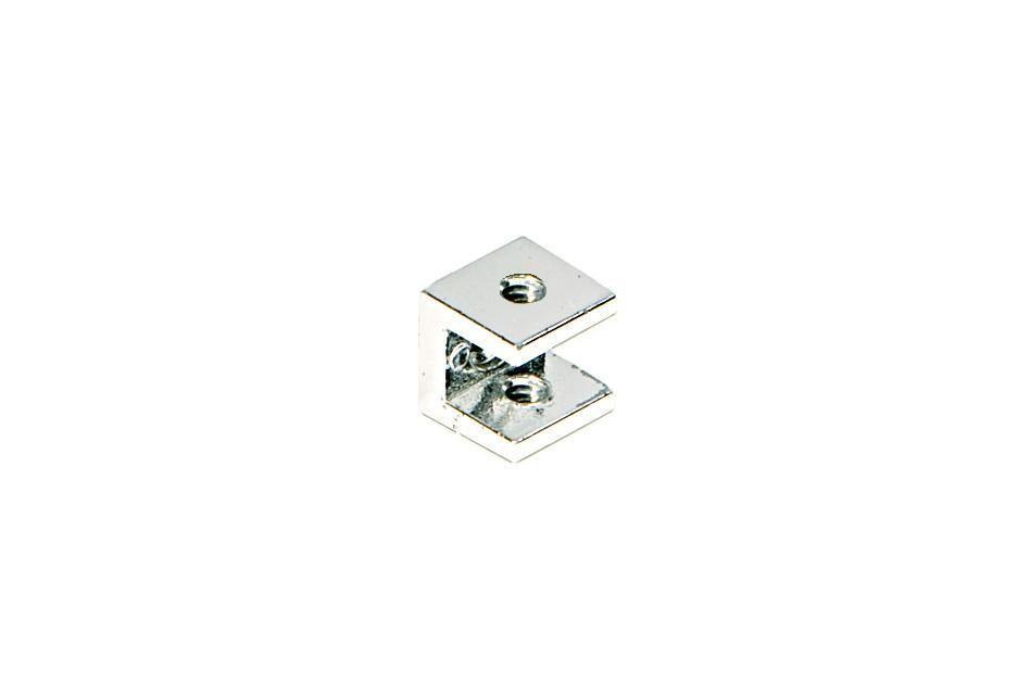 Suporte para Prateleira de Vidro Fenda Aramado Quadrado 10mm - Aquabox