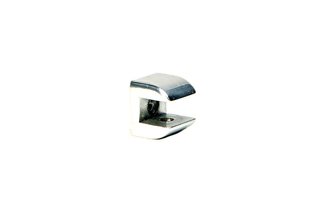 Suporte para Prateleira de Vidro Fenda Meia-Lua 10mm - Aquabox