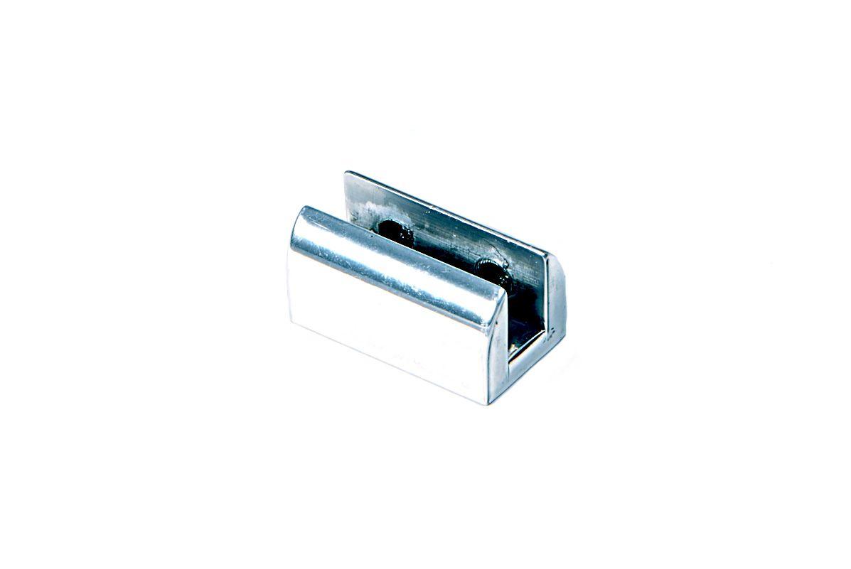 Suporte para Prateleira de Vidro Fenda Meia-Lua Duplo 10mm - Aquabox