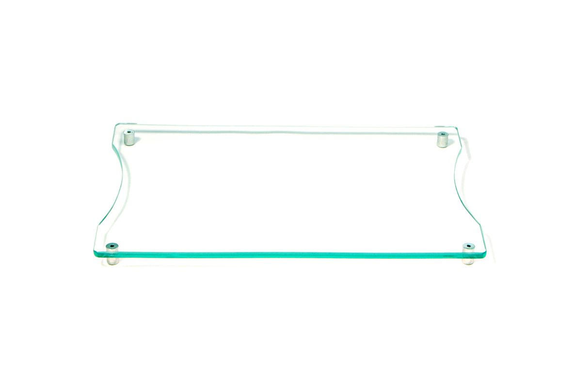 Tábua de frios pequena incolor 6mm temperado 30cmx20cm Aquabox