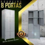 Roupeiro 8 portas pequenas