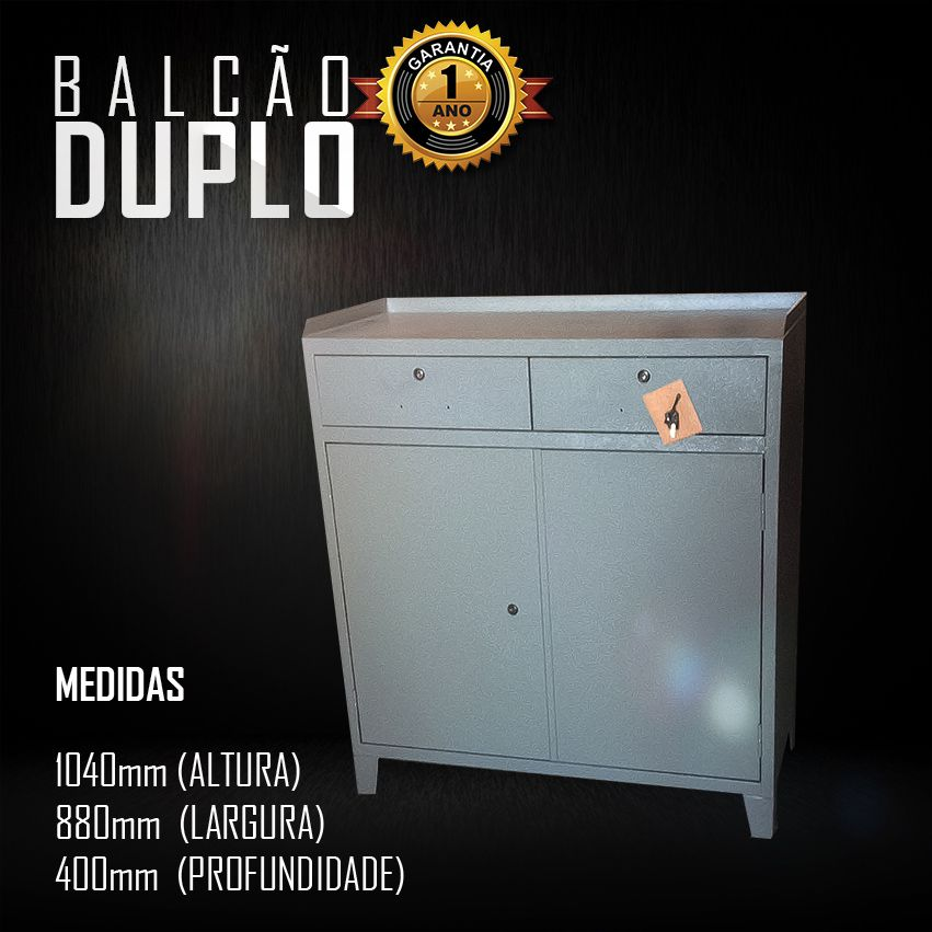 Balcão Duplo  - LOJA EUROMOB