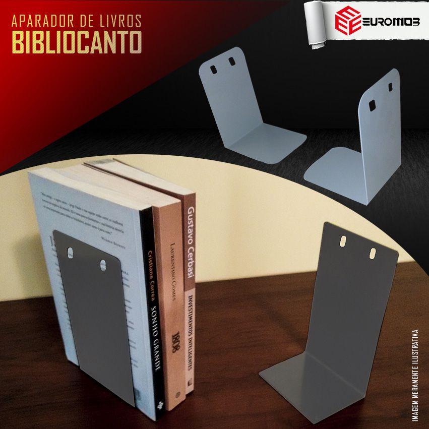 Bibliocanto de Aço | Aparador de Livros | Novo  - LOJA EUROMOB