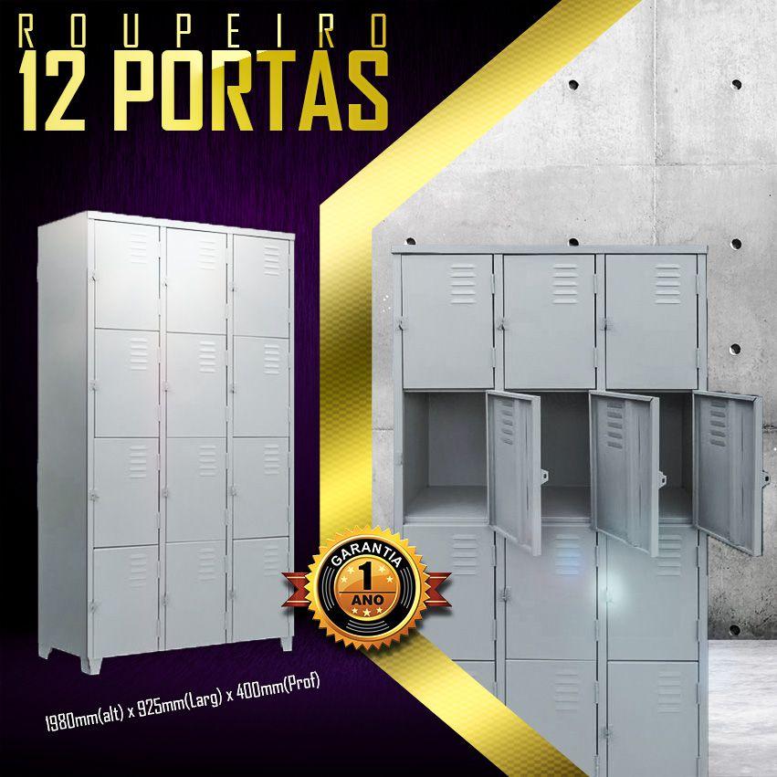 Roupeiro 12 portas   - LOJA EUROMOB