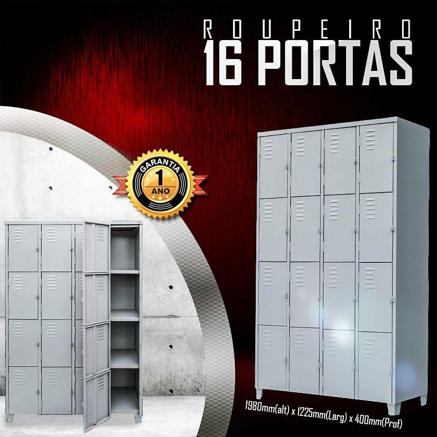 Roupeiro 16 portas  - LOJA EUROMOB