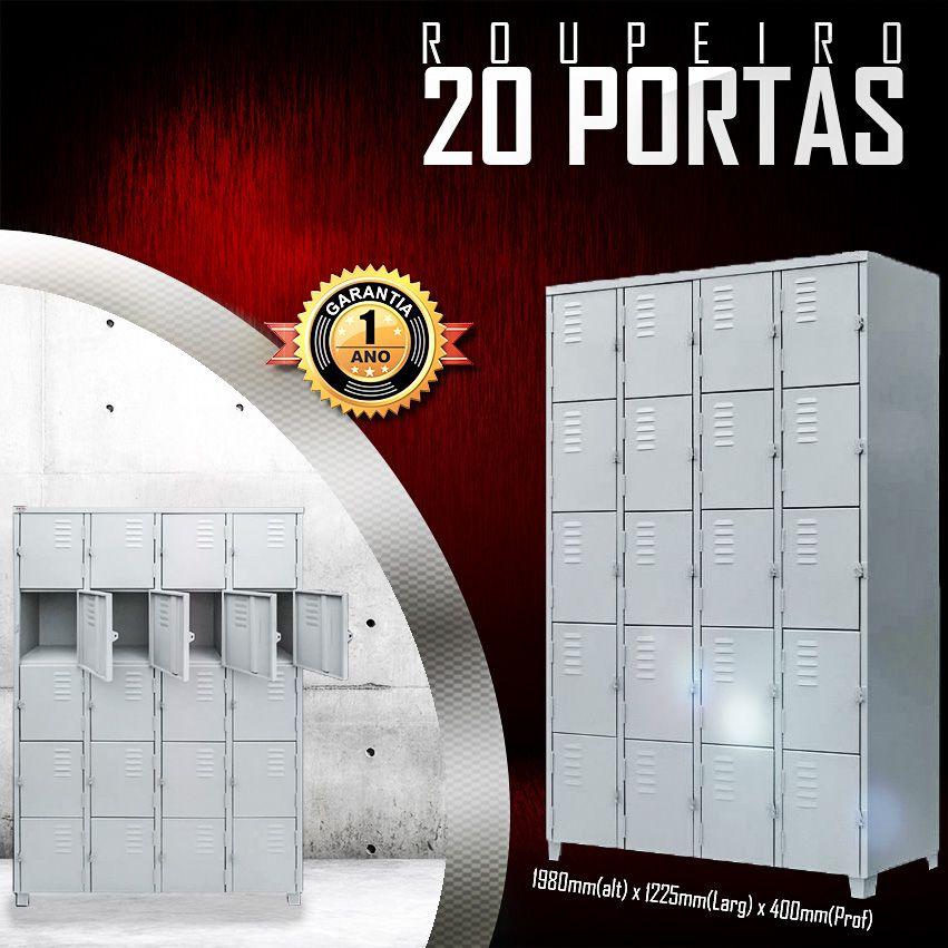 Roupeiro 20 Portas  - LOJA EUROMOB