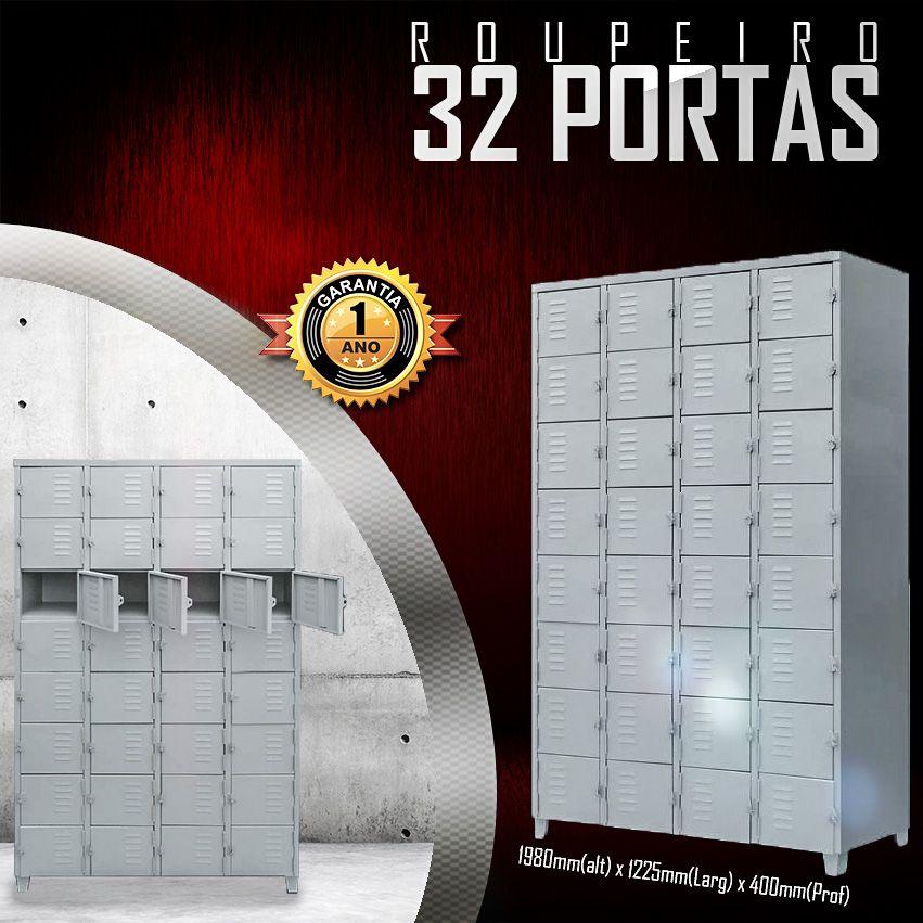 Roupeiro 32 Portas  - LOJA EUROMOB