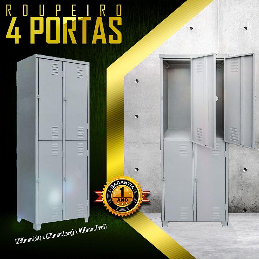 Roupeiro 4 portas Grd.  - LOJA EUROMOB