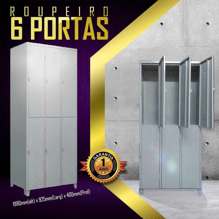 Roupeiro 6 Portas  - LOJA EUROMOB