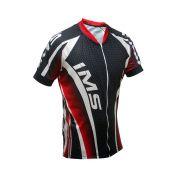 Camisa IMS Onix Bike Vermelho/Preto/Branco