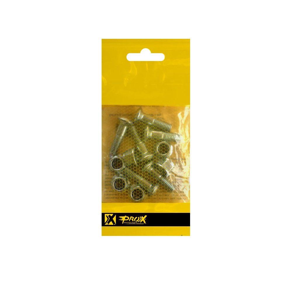 Parafuso Coroa c/ Porca - Kit Com 12 Pçs. M8x25 - ProX