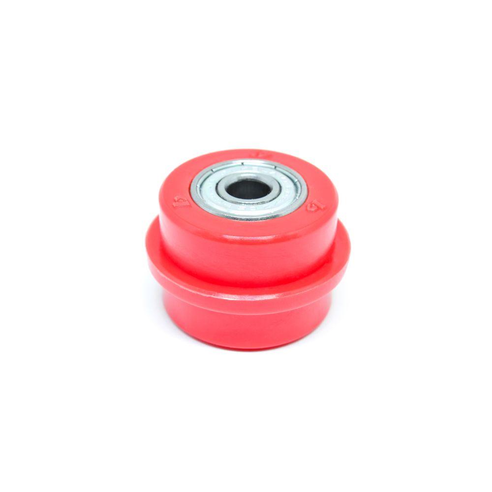 Rolete da Corrente 34mm Universal Vermelho - Biker