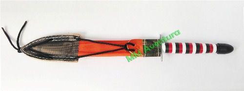 Faca Cimo Aço Carbono Acetato Coral Punhal + Bainha 1620/8